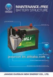 auto spare part 12 volta lead acid battery 74AH 57412 WHLI