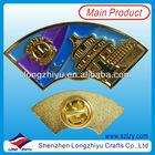 Souvenir Custom Pyramid Pin Badge/Soft Enamel Metal Badges Making/Metal Lapel Pins Factory