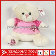Cute bear plush teddy bear stuffed teddy bear with T-shirt