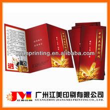 Hot Selling Cheap Custom Creative Full Color Printing Restaurant Leaflets Samples Leaflets