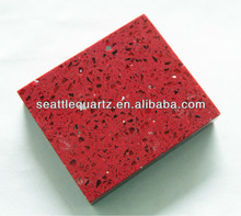 Hot sale sparkle red quartz kitchen countertop stone