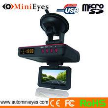 Car 1080P Full hd Chelong DVR with anti police radar detector gun function + gps DVR car speed radar detector