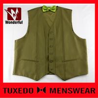 2016 new arrival anti wrinkle waistcoats for boys