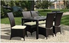 PE Rattan cheap dark Brown costco wrought iron outdoor furniture