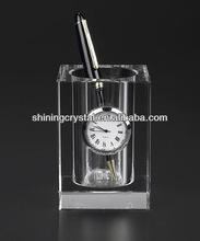 Budget Crystal Pen Holder Clock