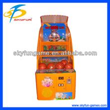 hot sale kids basketball machine kids coin operated shooting ball machine