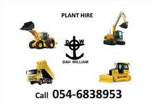 excavators, wheel loaders, tipper trucks, dozers
