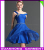 fashion Asymmetrical Collar Beading Sash Drape Cocktail Dresses 2013