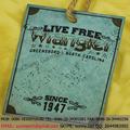 YCH-13075 Accesorios prendas moda antigua etiqueta colgante para tejanos