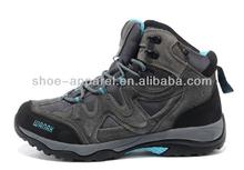 Hot sale Men's outdoor waterproof hiking trekking shoes slip resistant high top shoes