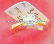 18 K -YELLOW GOLD-SOLITIARE DIAMOND RING