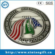 2013 cheap antique custom metal blank brass metal coin