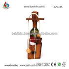 promotional custom wood puzzles Wine Bottle Puzzle