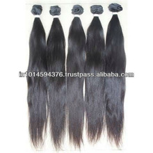 VIRGIN INDIAN HUMAN HAIR/STOCK/HAIR EXTENSION/MACHINE MADE WEFT