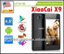 XiaoCai X9 4.5 Inch QHD Android SmartPhone OGS Display, 1.2GHz Quad Core CPU, Ultra Thin-Black