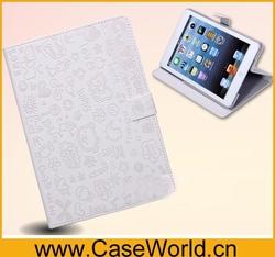 For iPad mini 2 smart leather case, pu leather case for ipad mini 2