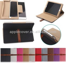 with Belt tablet shell for ipad air smart cover case
