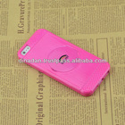 Mirror case for apple iphone 5 5s 5c with back holder