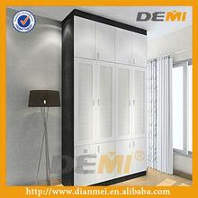 modern wood design bedroom wardrobe white and black color