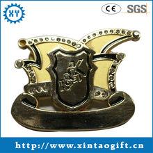 Creation fashion gold custom badges of factory