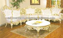Mahogany Sofa Set Classic Design Indoor Furniture.