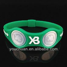 YC2014 negative ion sport titanium silicone magnetic bracelet