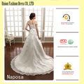 Images réelles luxe et top très long tail backless dentelle sexy robe de mariée 2016 coudre sur perles de cristal gelinlik