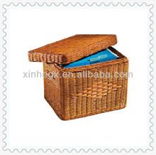 brown storage handwoven gift rattan box