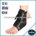 cordón de cuero hasta el tobillo elástico brace envolver el tobillo