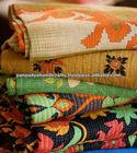 vintage kantha Indian sari throws and blankets -vintage kantha quilt recycled sari blanket.