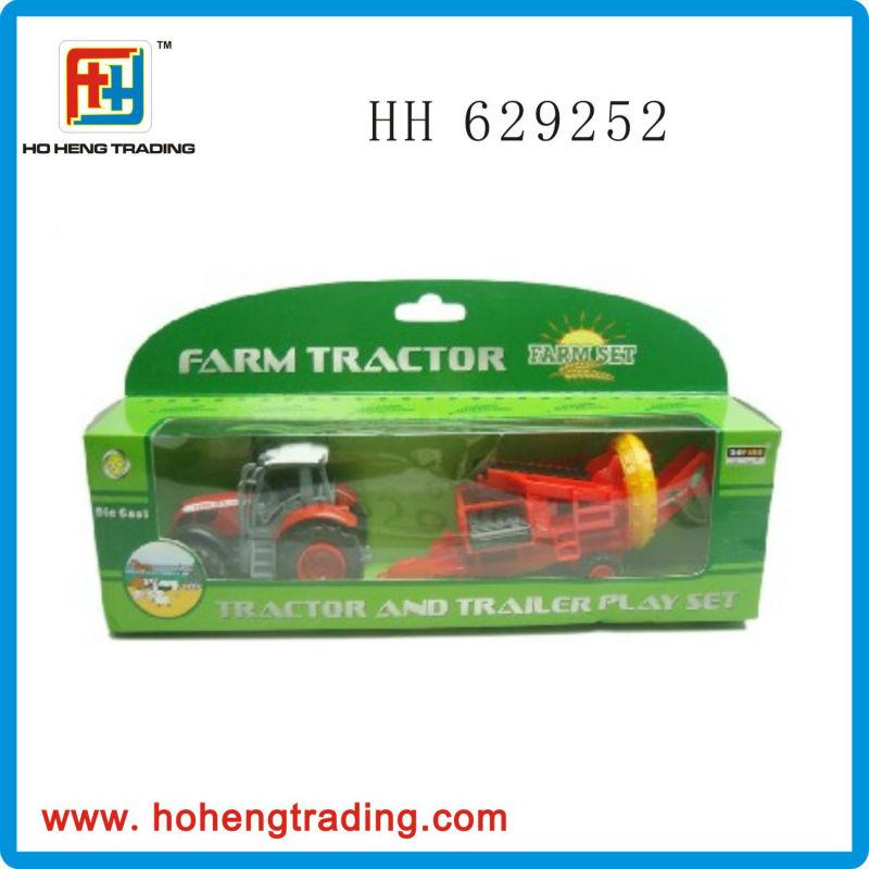 Free wheel die cast farm tractor toy