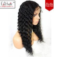 5a grade cheap deep wave brazilian full lace wigs for men