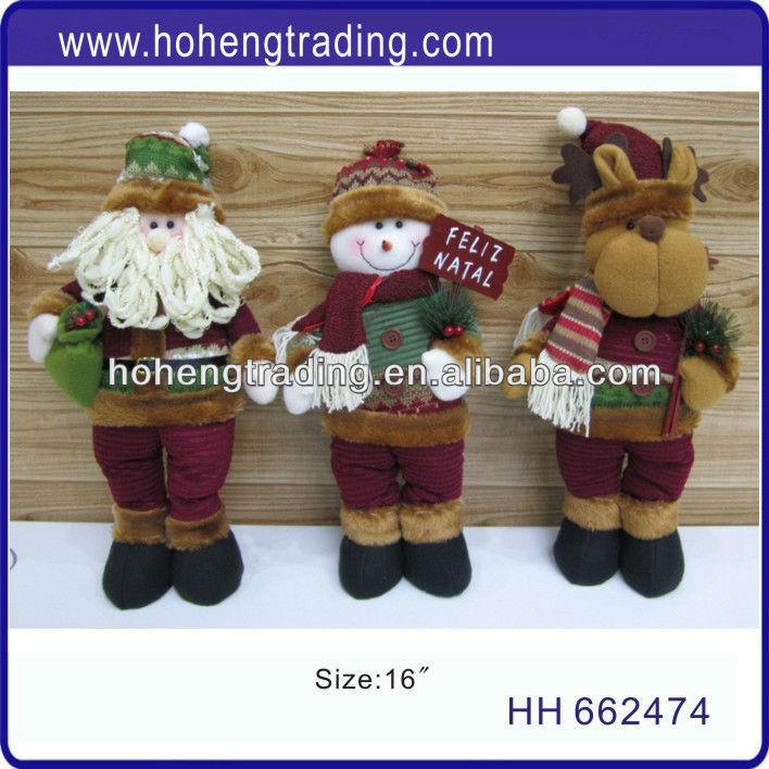 plush toys christmas santa snowman reindeer