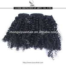 toppest quality candy curl brazilian human hair wet and wavy weave