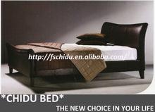 bed 180x200 leather, high-end leather bed, bedroom furniture leather bed L007