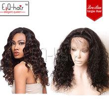 100%human hair cheap deep wave brazilian hair full lace wig direct manufacturer