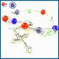 6mm perline colorate bracciali, acrilico/plastica catenella braccialetto rosario, braccialetto a buon mercato
