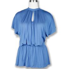 blue Fashion Women Cotton Blouse Wholesale china imports bangkok clothes