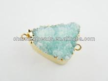 Rock connector,Hot gemstone charm,Gemstone connector,Druzy jewelry DC1311068