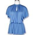 mode femme chemisier en coton bleu en gros des vêtements de mode coréenne gros importations de la chine