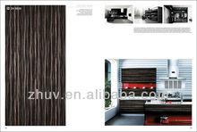 zhihua brand glossy uv mdf sheet for kitchen cabinet