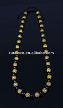 Long style adjustable shamballa rhinestone Necklace