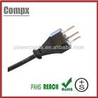 10/16A 250V 3 prong swiss ac power cord