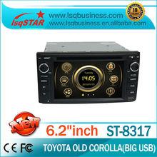 BIG discount!!! multimedia car audio for TOYOTA universal Corolla/Vios/Camry/Celica/Rav4/Hilux/4 runner,LSQ Star!