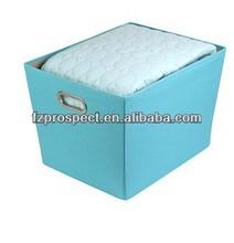 sky blue large decorative storage bin with handles