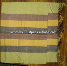 cotton stripe scarf shawl