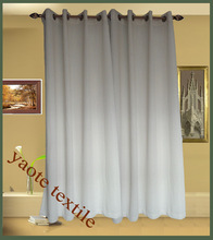 knitted fabric Rod pocket and 8 grommets window curtain