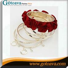Alloy pearl cloth 7 sets unique bengali wedding bangles