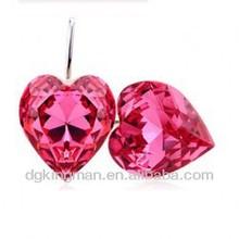 Kingman 2013 Rose Marry Heart Cut Superior Crystal Earrings-Time Memory