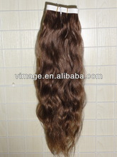 vimage 5a virgin cheap human hair curly skin weft tape hair extensions